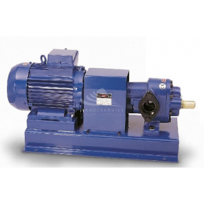 Volumetric self priming gear pumps on base-plate with motor, coupling
